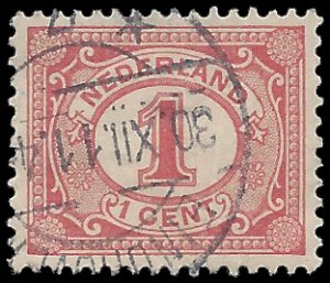 Netherlands #56 1898 Used