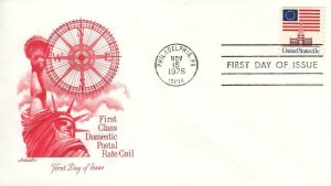 1975, 1st Class Domestic Postal Rate Coil, Artmaster, FDC (D14402)