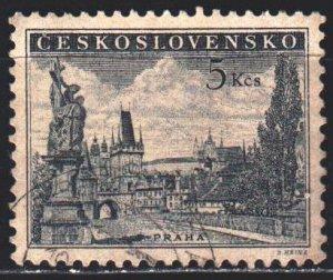Czechoslovakia. 1953. 818A. Prague, Charles bridge, sculptures. USED.