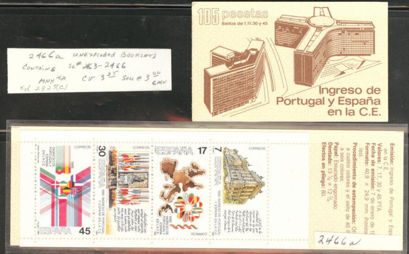 SPAIN Scott 2466a =2463-2466 MNH** Spains first Booklet 1986