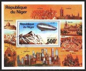 Niger. 1976. bl 14. Zepellins. USED.