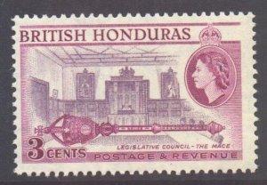 Br Honduras Scott 146a - SG181b, 1953 Elizabeth II 3c Perf 13.1/2 x 13 MNH**