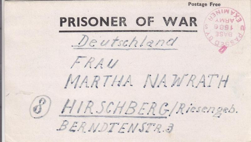 1944, Letter Sheet Fm German POW in France to Germany, See Remark (C2134)