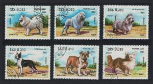 Laos Dogs 6v CTO SG#591-596 SC#405-410 CV£4.45