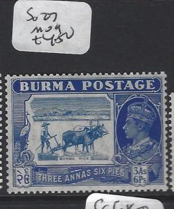 BURMA (P0304B)    KGVI  3A 6P  COW     SG 27    MOG