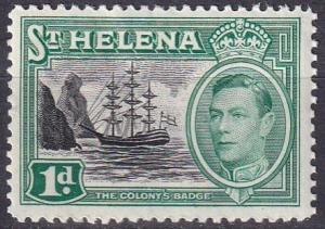 St Helena #119 F-VF Unused CV $7.00 (A19231)