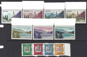 Andorra French 1961 SC 143-153 MNH SCV$ 85.00 Set