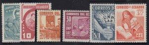 Ecuador - 1953 - SC 571-74,C240-41 - NH - 2 complete sets