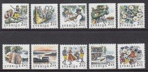 Sweden 1681--1690 Singles MNH VF