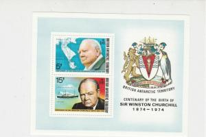 British Antarctic Territory Sir Winston Churchill MNH Mini Stamps Sheet Ref27115