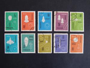 Postage stamps, series, Poland, 1962, №10-SR