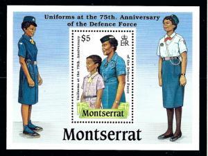 Montserrat 711 MNH 1989 Defense Force S/S