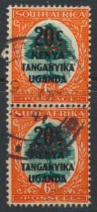 Kenya Tanganyika Uganda KUT Opt Surcharge  Pair SG 153 - Used  see details