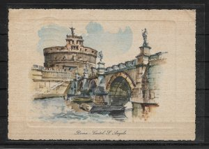 ITALY 1966, Vintage Post Card, ROME- Castle of Sant'Angelo,VF Posted !! (RN-50)