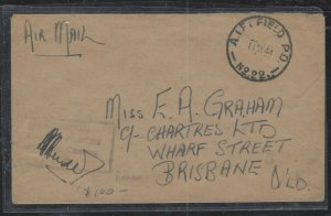 NORTH BORNEO COVER  (PP2712B) 1944 AIF AUSTRALIAN FORCES IN BORNEO CENSOR TO AUS