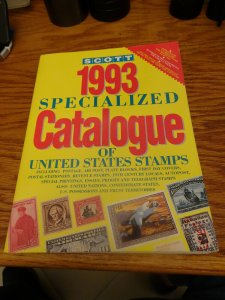 Scott 1993 Specialized Catalogue Of U.S. Stamps