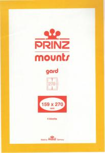PRINZ BLACK MOUNTS 159X270 (4) RETAIL PRICE $10.50