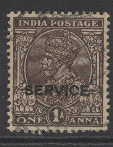 INDIA SGO124 1936 1a CHOCOLATE USED