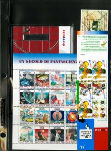 Worldwide Mint NH Modern Souvenir Sheet & Booklet Stamp Collection