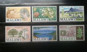 Malawi #45-50 mint hinged short set trees fruit e196.4505