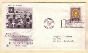 United Nations FDC Sc. # 122 Human Rights     L 58