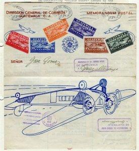 GUATEMALA; 1929-30 Unusual Specimen 'Colour Chart' COVER item