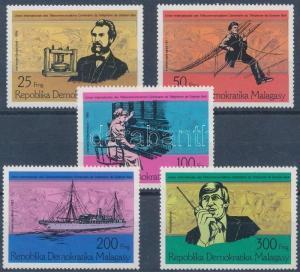 Madagascar stamp Centenary of the telephone set MNH 1976 Mi 794-798 WS133449