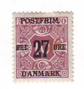 Denmark Sc 149 1918 27 ore ovpt on 10 ore stamp  mint