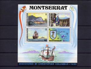 Montserrat 1973 Sc#295a  Anniversary Discovery America  by Columbus (1)  SS MNH