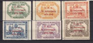 Honduras C181-86 MH 1951 UPU 75th Anniversary