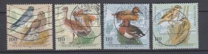 J28648, 1998 germany short set used #b837-40 birds