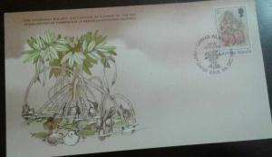 RL) 1980 CAYMAN ISLANDS, MARINE LIFE, SHELLFISH, NATURE, FISH, 5C, THE