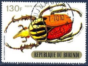 Insect, Beetle,Burundi stamp SC#C118 used