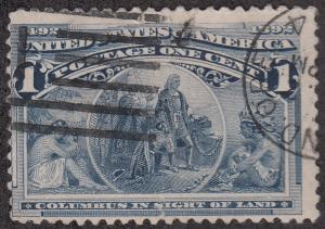 U.S. #230 Columbus in Sight of Land USED