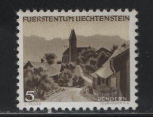 LIECHTENSTEIN  239  MNH BENDERN ISSUE 1949