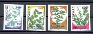 SENEGAL MEDICINAL PLANTS NEVER HINGED IMPERFORATED SET