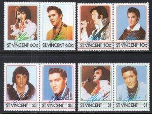 St Vincent 874-877 Elvis MNH VF