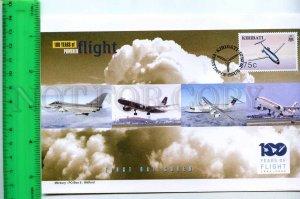 242121 KIRIBATI 100 years of FLIGHT PLANES 2003 year FDC