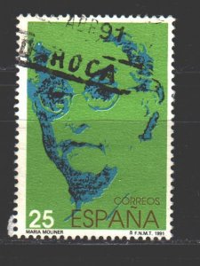 Spain. 1991. 2975. Moliner creator of the explanatory dictionary of spain. USED.