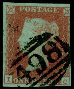 SG8, 1d red-brown, USED. Cat £30. IC