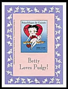 Chad 856-8 Betty Boop Mint Nh Up-To-Date Styling Chad Animation, Cartoons