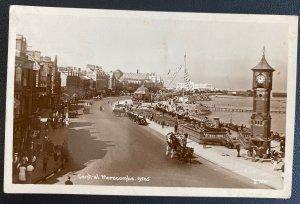 1935 Lancaster England RPPC Postcard Cover To Greystone RI Usa Morecambe