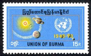 Burma Sc# 217 MNH 1970 United Nations 25th