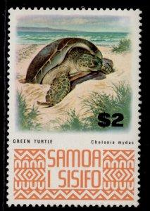 SAMOA QEII SG399a, $2 green turtle, M MINT.