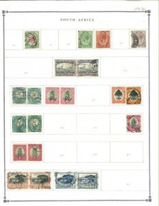 South Africa 1913-1935 M & U Hinged on Blank Scott International Pages