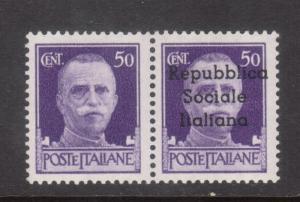 Italy Teramo Sassone #6c Very Fine Never Hinged Pair **With Certificate**