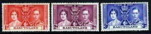 BASUTOLAND King George VI 1937 The Coronation Set SG 15 to SG 17 MINT