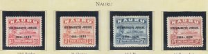 NAURU, 1935 Silver Jubilee set of 4, lhm.