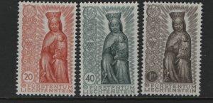 LIECHTENSTEIN 284-286 (3) Set, Hinged, 1954 Madonna in Wood, 14th Century