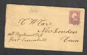 West Winsted Conn DPO 5 Union Civil War Cover 14 Reg. Bond Ft. Trunball 1864